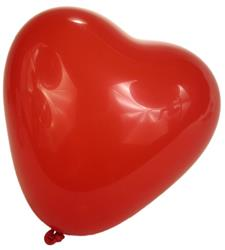 "Balloon - Heart - 6"" Ruby Red"