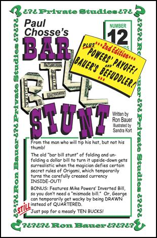 Bar Bill Stunt - Ron Bauer