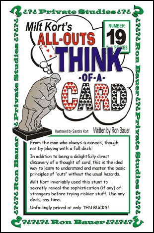 All-Outs Think of a Card - Milt Kort