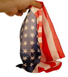 American Flag- Royal- Pure Silk