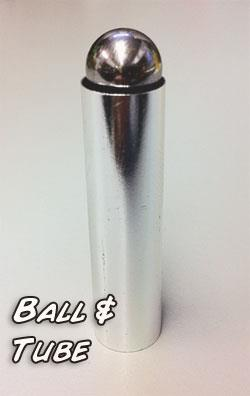 Ball and Tube - Aluminum, Small