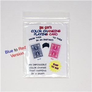 Color changing card blue to red