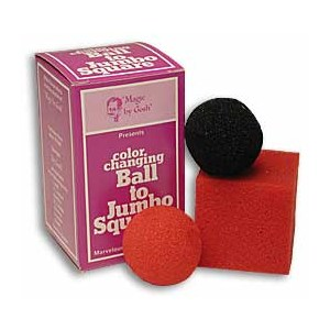 Color Changing Ball to Jumbo Square -Sponge Magic Trick