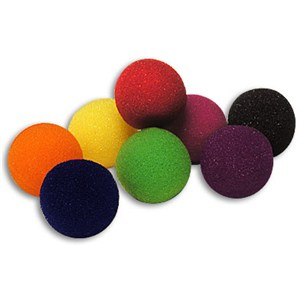 "Sponge Ball-1 1/2"" Bag of 50 S.S.-Green"