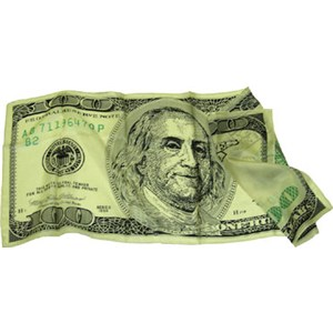 "Silk - $100 Bill - 36"" - Stage Magic Trick Accessory"