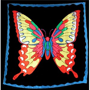 "Silk - Butterfly 36"" - Royal - Stage Magic Trick"