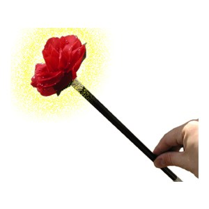 Wand to Flower - Parlor / Stage Magic Trick