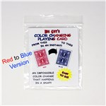 Color Changing Playing Card - Red to Blue