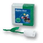 napkin-rose-white