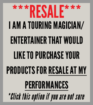 I am a touring performer looking to buy awesome products for resale