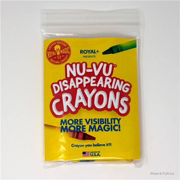 Nu-Vu Disappearing crayons front