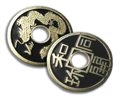 Chinese Coin - Black